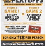 Providence Bruins Play in the Calder Cup Playoffs April 20 & 21!